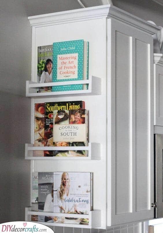 Cookbooks - Kitchen Cabinet Organization Ideas