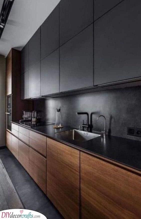 Black and Wood - Interesting and Sleek