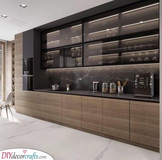Glass Doors - For Your Modern Kitchen Cabinets