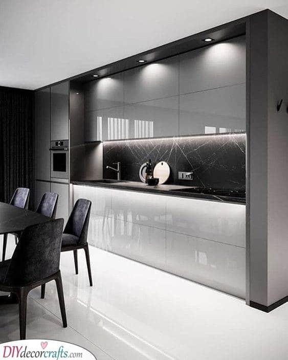 Marvellous in Monochrome - Modern Kitchen Cabinet Ideas