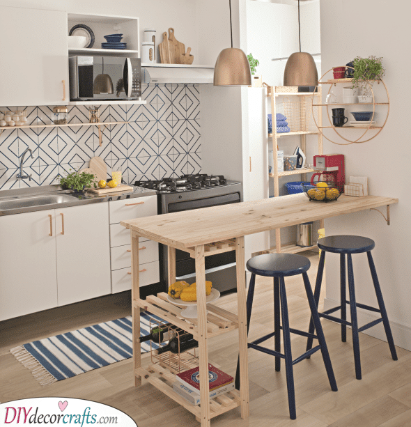 Cute and Cosy - Small Kitchen Island With Seating
