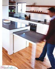 A Pull-Out Table - Hideaway Table Idea