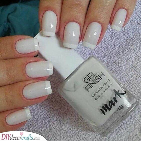 A White French Manicure - Pure Elegance