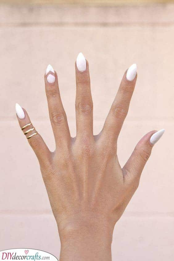 Pointy Almond Nails - Simple and Elegant