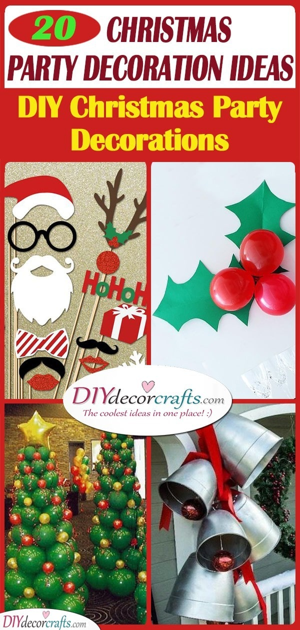20 CHRISTMAS PARTY DECORATION IDEAS – DIY Christmas Party Decorations