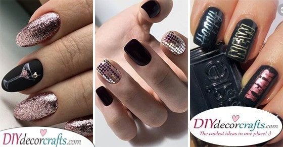 New Years Nails , A Selection of New Years Nail Ideas