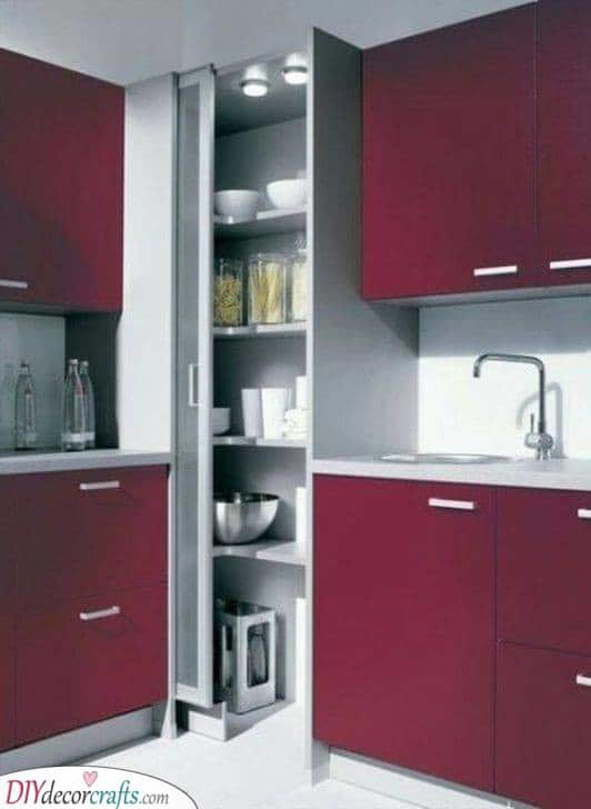 Large and Bulky - Fantastic Corner Kitchen Cabinet Ideas