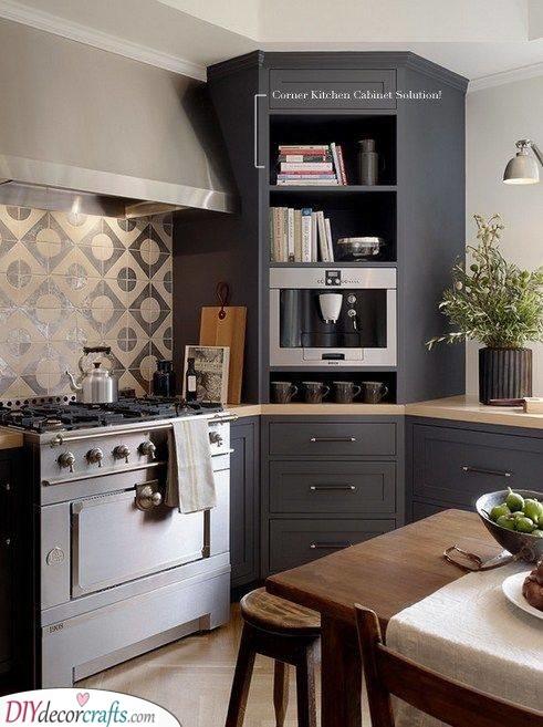 Corner Kitchen Cabinet Ideas - A Bit of Decor