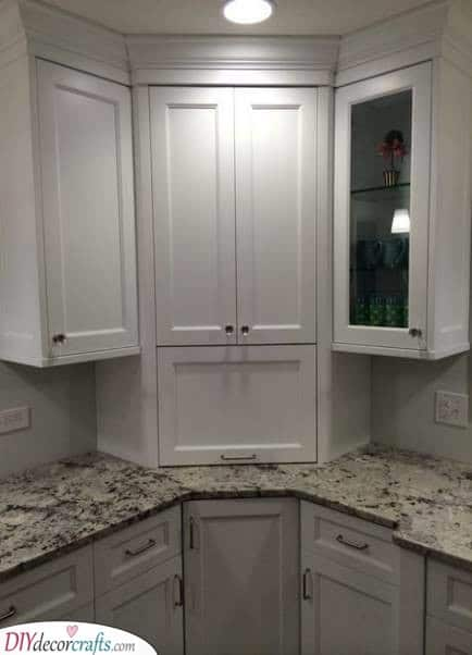 Fits in Perfectly - Kitchen Corner Cabinet Ideas