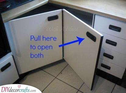Creating Easy Access - Corner Kitchen Pantry