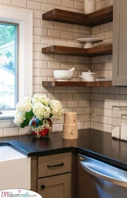 An Array of Floating Shelves - An Easy Solution