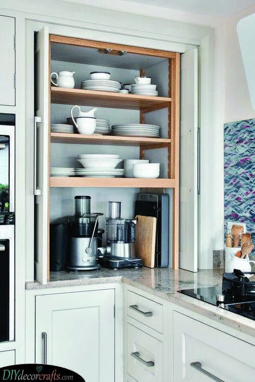 A Pull-Out Cabinet - Corner Kitchen Units