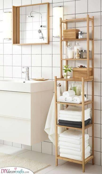 Beautiful in Bamboo - Natural Bathroom Shelf Ideas