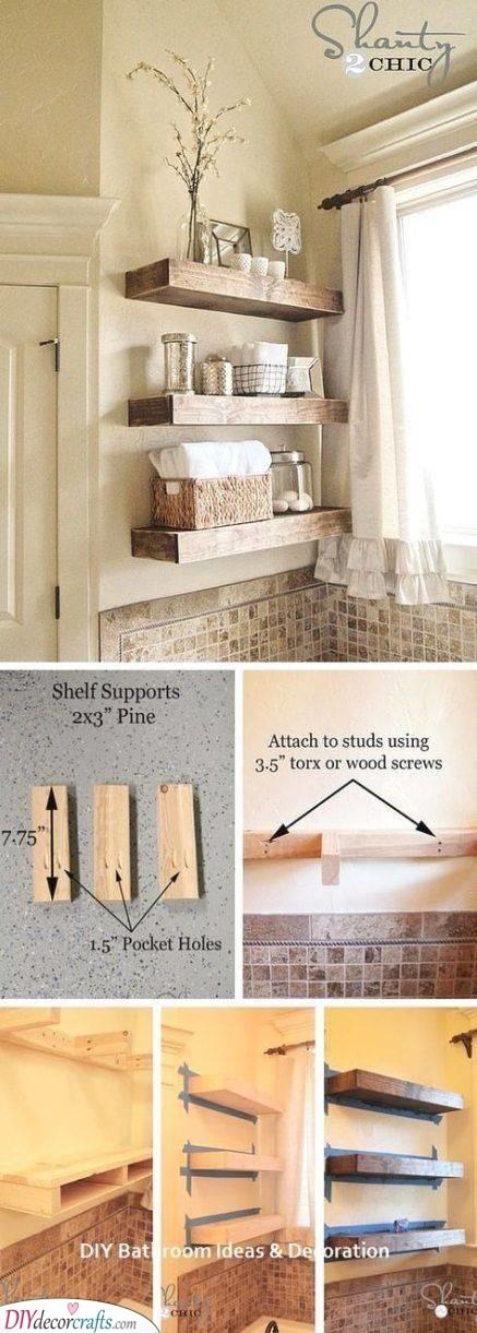 DIY Shelf Project - Bathroom Shelf Design Ideas