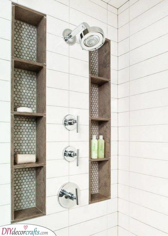 Built-In Shelves - For Your Shower