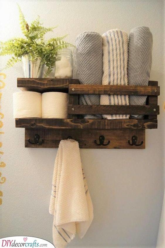 A Handmade Shelf - Made Out of Wood