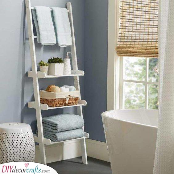Simple and Lovely - Bathroom Wall Shelves