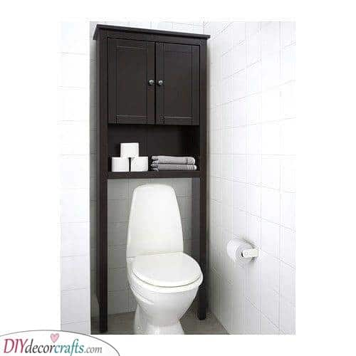 Shelf Above the Toilet - Decorative Bathroom Shelf Ideas