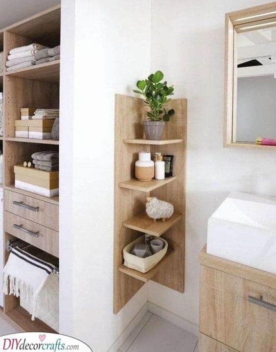 A Fabulous Look - Decorative Bathroom Shelf Ideas