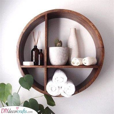Remarkable and Round - Round Bathroom Wall Shelves