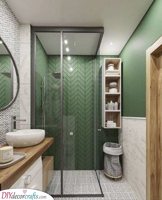 Green, White and Wood - Sophisticated and Contemporary