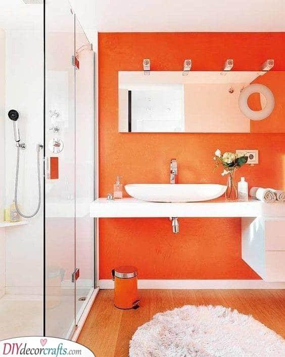 Awesome in Orange - Simple Bathroom Ideas