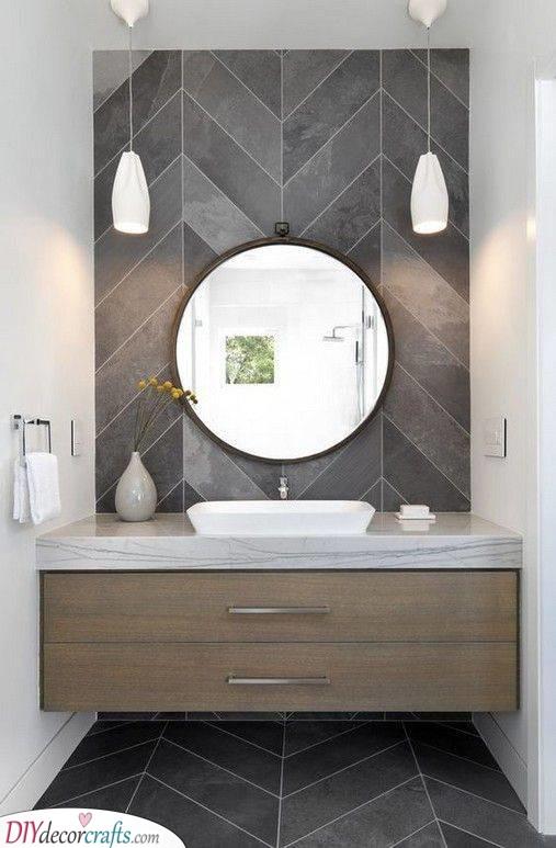Geometric Patterns - Simple Bathroom Ideas