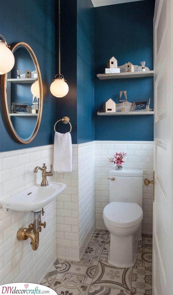 A Brilliant Blue - Simple Bathroom Ideas