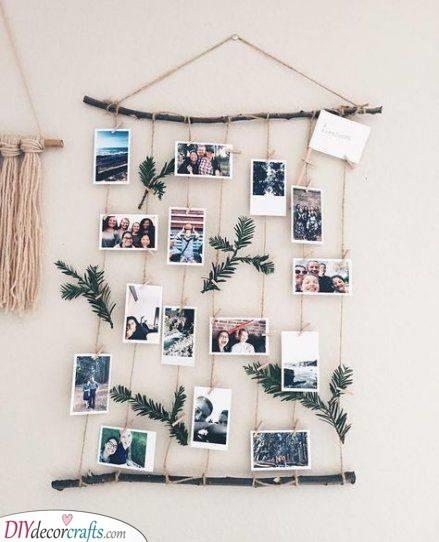 A Collection of Memories - DIY Wall Decor Ideas