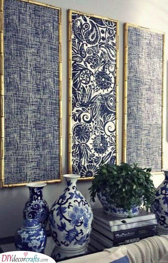 Framed Fabric Art - Bohemian DIY Wall Art