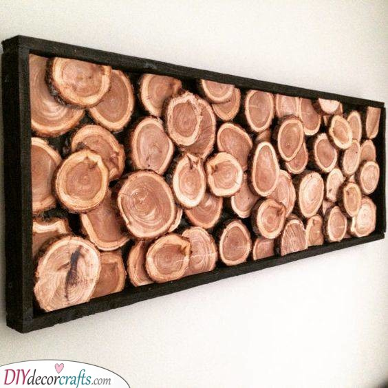 Slices of Wood - Earthy DIY Wall Decor Ideas