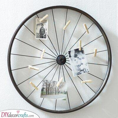 A Photo Holder - Try Using a Metal Wheel