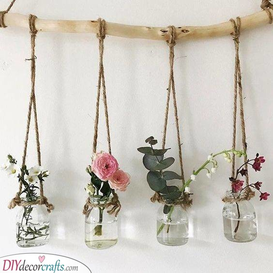 A Floral Roomscape - Homemade Wall Decoration Ideas