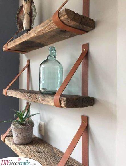 A Set of Floating Shelves - Practical for Storage