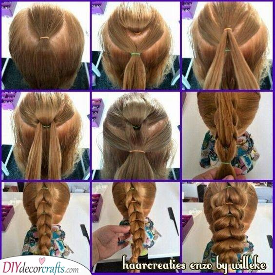 Distract Braid Hairstyle - Step by Step Little Girl Braids