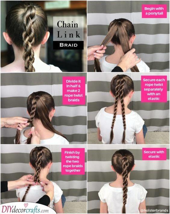 Chain Link Braid - Creative Little Girl Braids