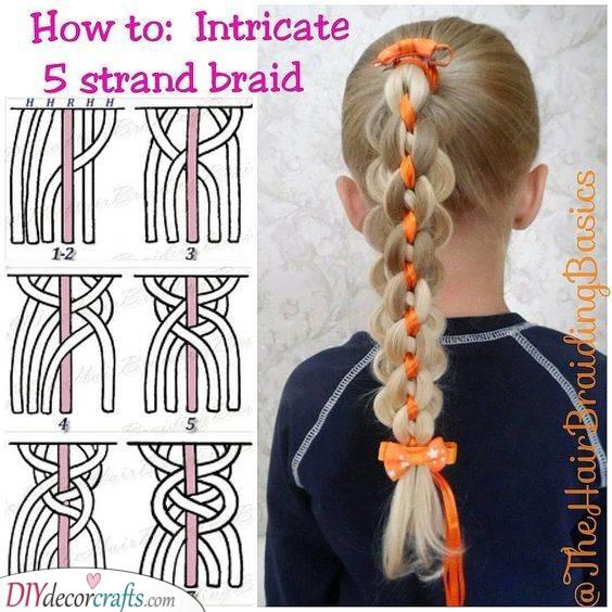 Adding a Ribbon - Five Strand Technique
