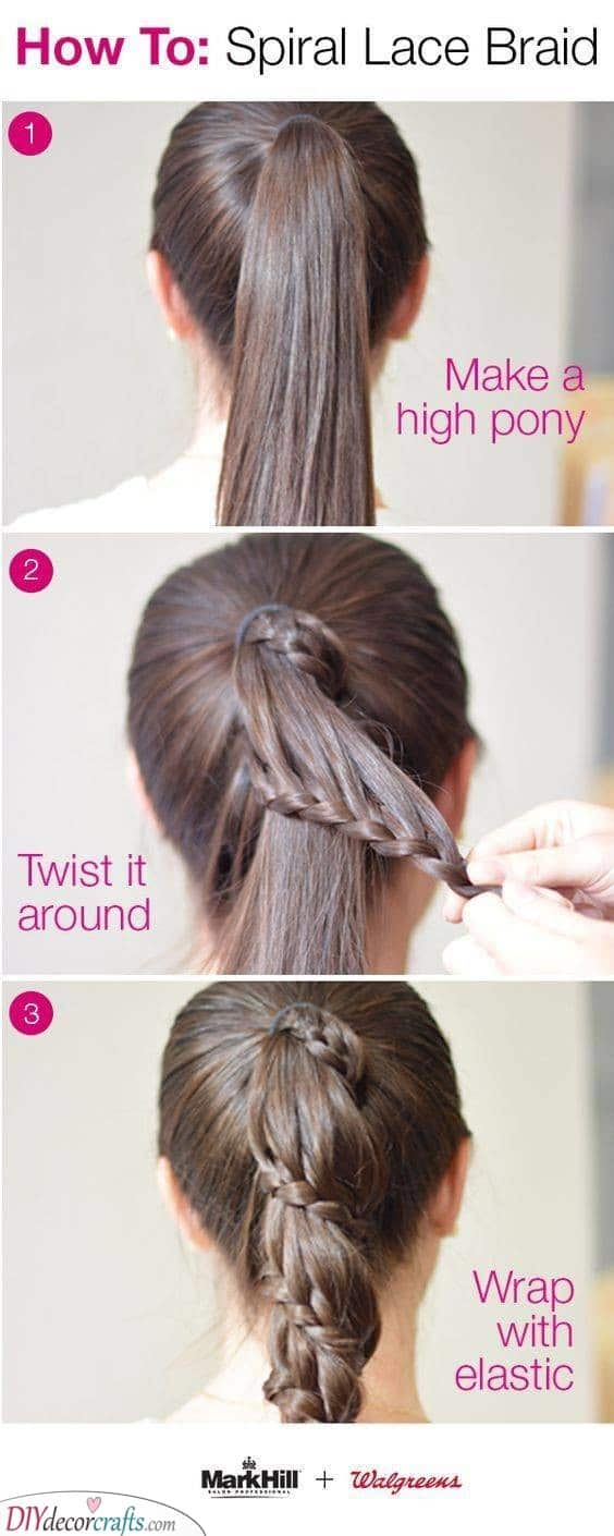 Spiral Lace Braid - Easy and Effortless
