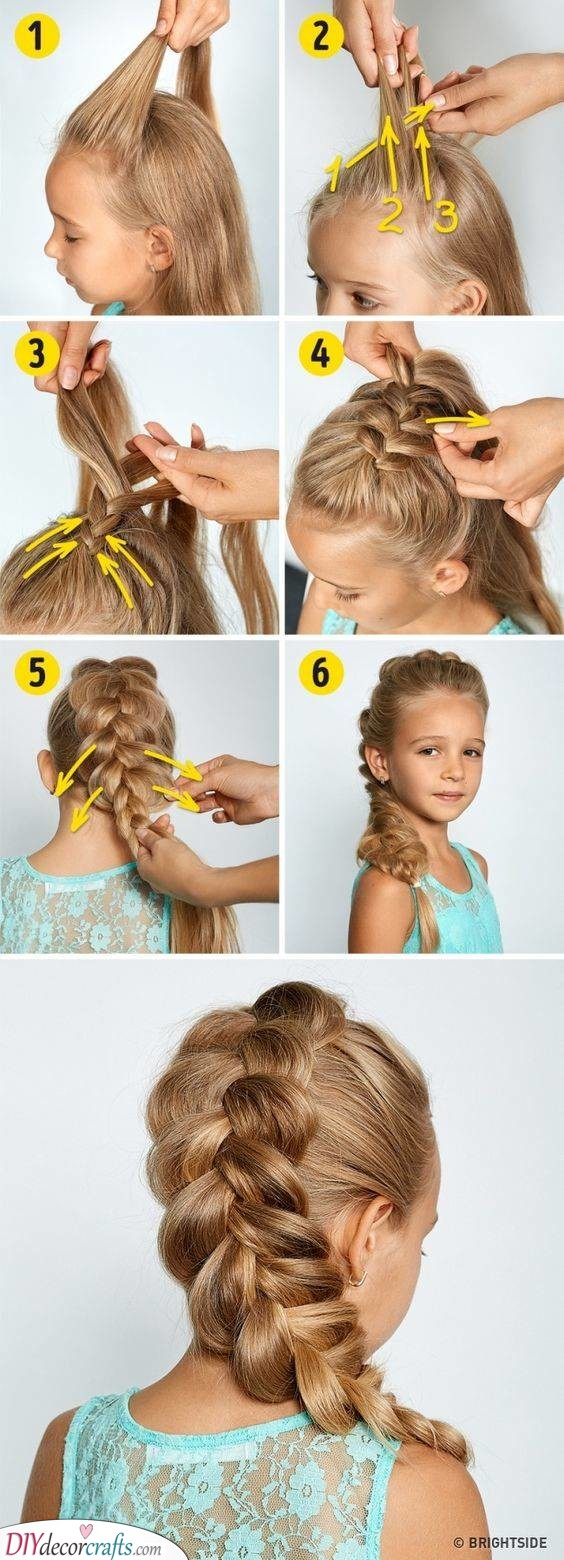 Looking Like a Princess - A Reverse French Braid