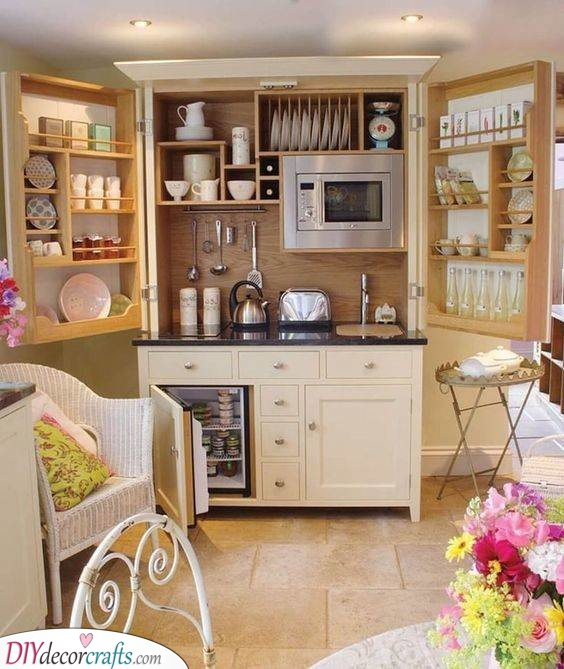 Full of Everything - Small Kitchen Design Ideas