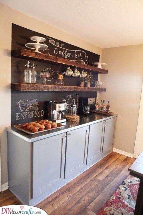 A Coffee Bar - A Unique Kitchenette Idea