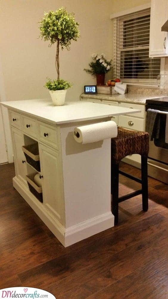 Add a Kitchen Island - Easy and Practical