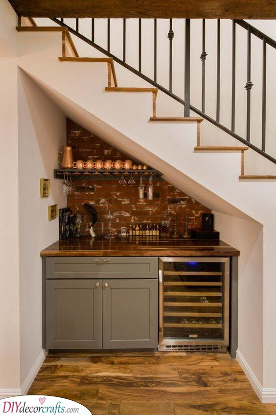 A Kitchen Underneath the Stairs - Unique and Creative