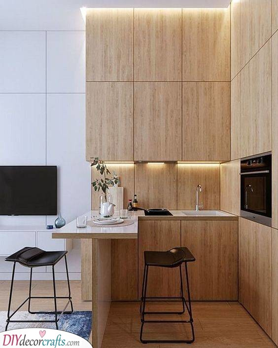 A Natural Ambience - Using Wood as the Main Material