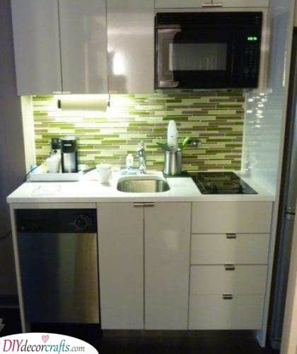 A Fabulous Look - Small Kitchen Design Ideas