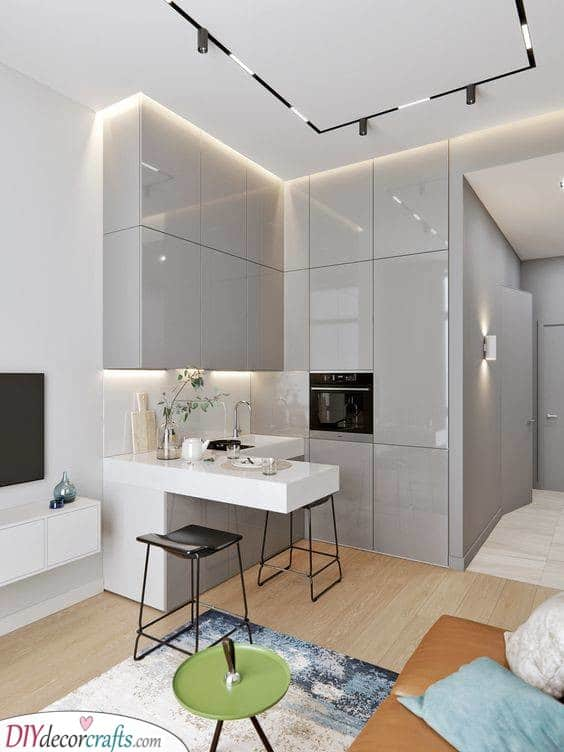 A Kitchen in a Corner - Saving Space