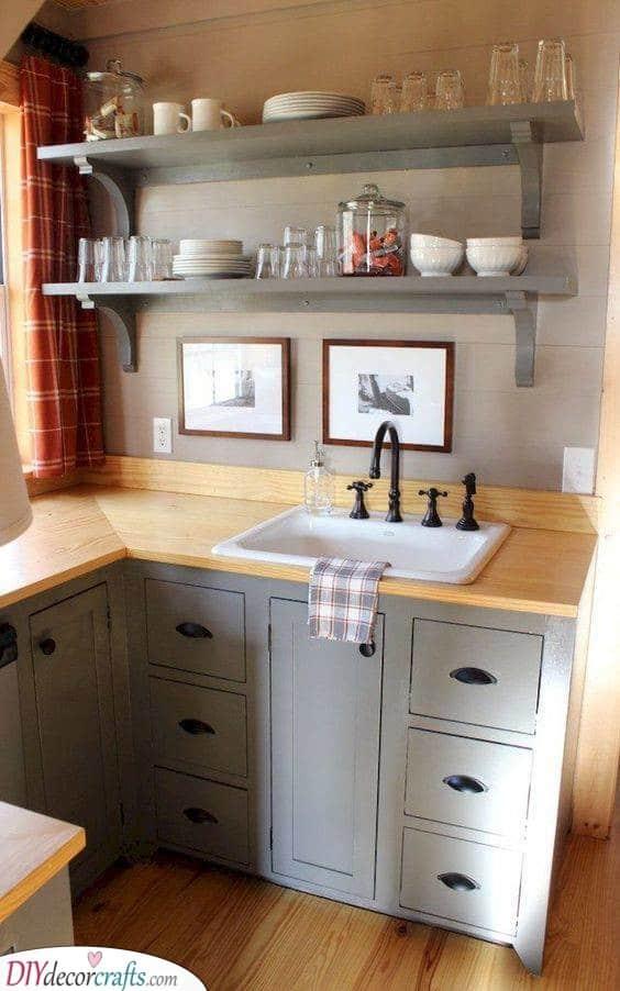 A Stylish Design - Add a Few Floating Shelves