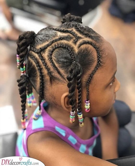 Creating Unique Shapes - Little Black Girl Braided Hairstyles
