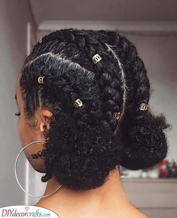 Perfect for Short Hair - Low Space Buns