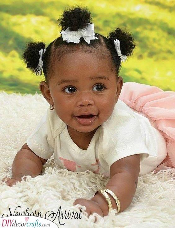 Three Cute Buns - Little Black Girl Hairstyles